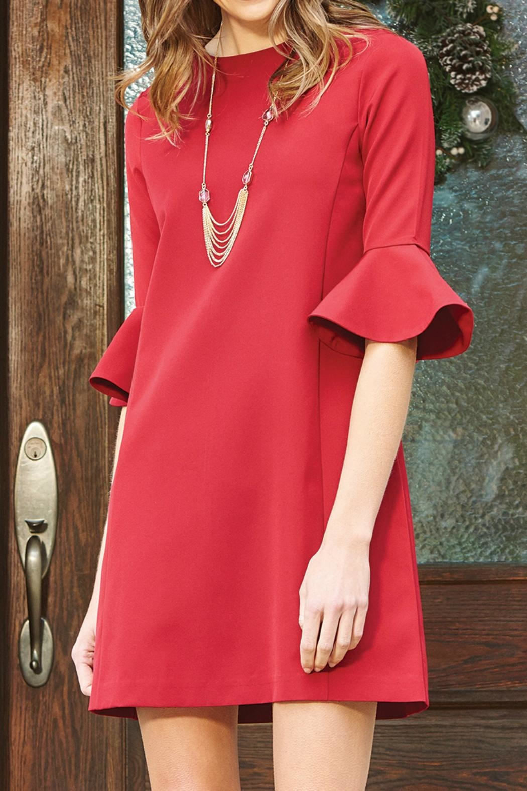 Charlie Paige Flared Sleeve Dress - Main Image
