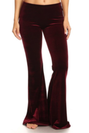 T Party Flared Velvet Pants - Product Mini Image