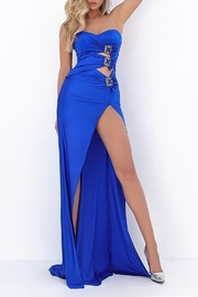Tarik Ediz Flash Strapless Cutout Gown - Front full body