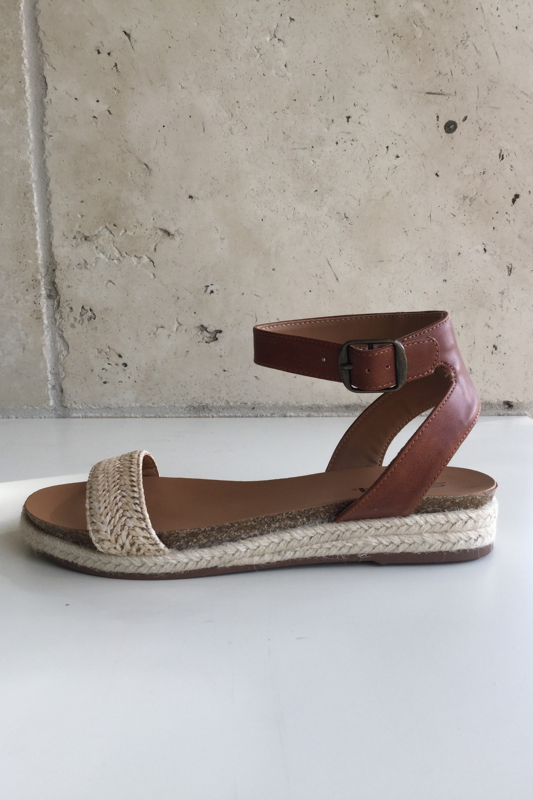 Soda Flat Ankle Band Sandal - Front Full Image