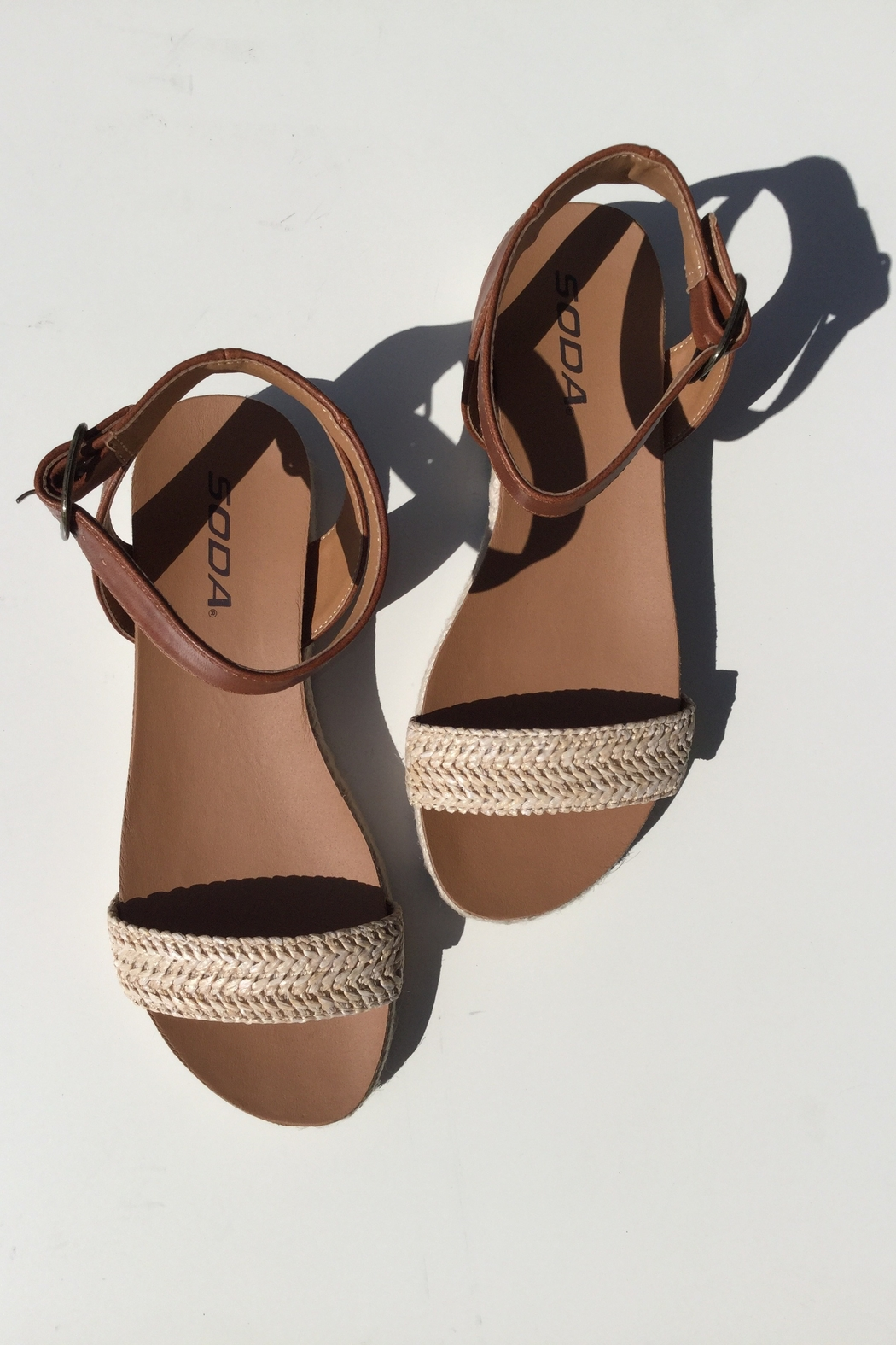Soda Flat Ankle Band Sandal - Main Image