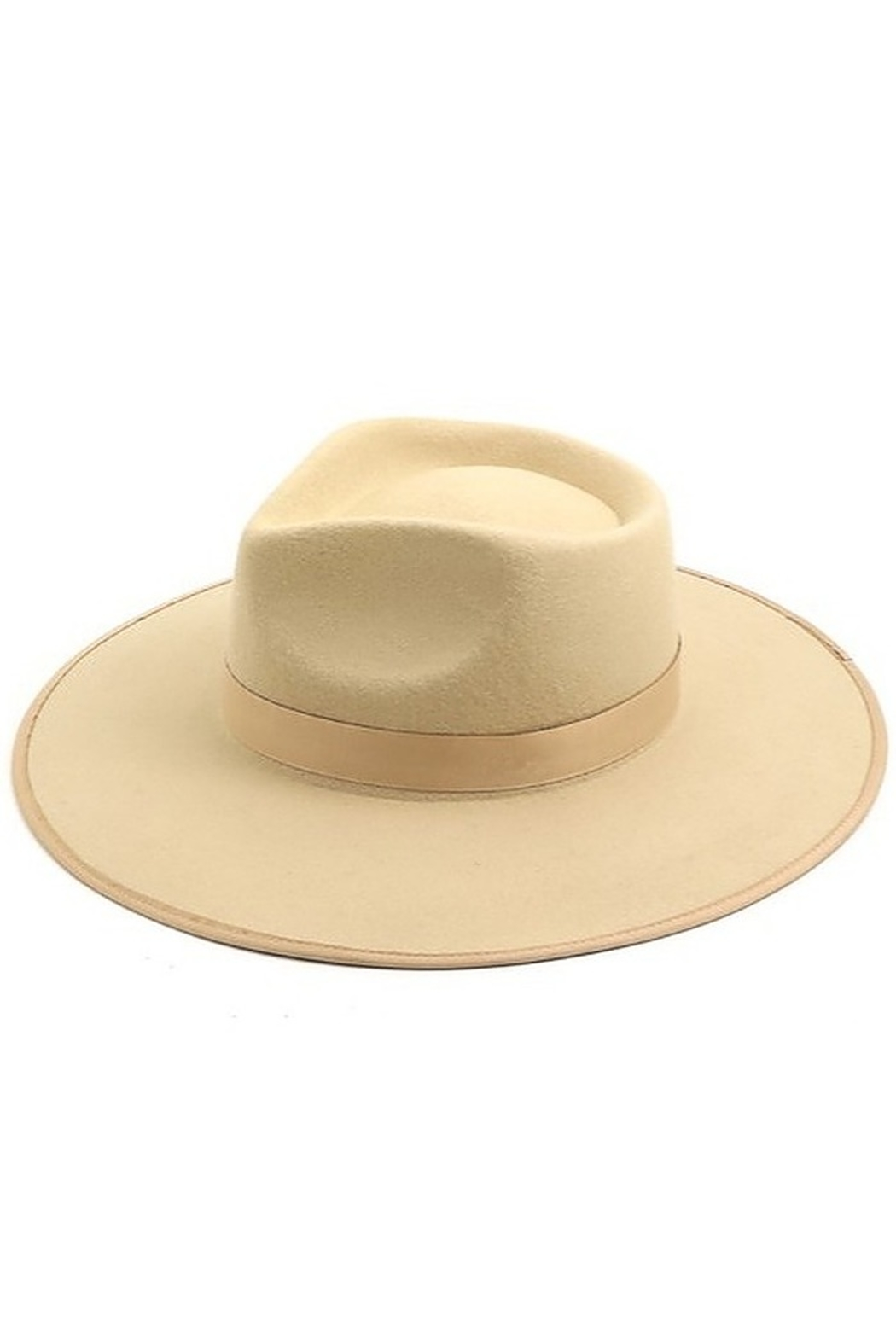 Fame Accessories Flat Brim Fedora - Front Cropped Image