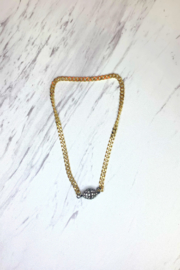 Love, Lisa (formerly TrendsRus) Flat Chain w Magnetic Pave Ball - Product Mini Image