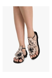 Lola Cruz Flat Flower Sandal - Product Mini Image