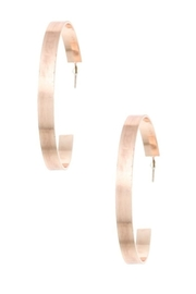 Andrea Bijoux Flat Hoops - Front cropped