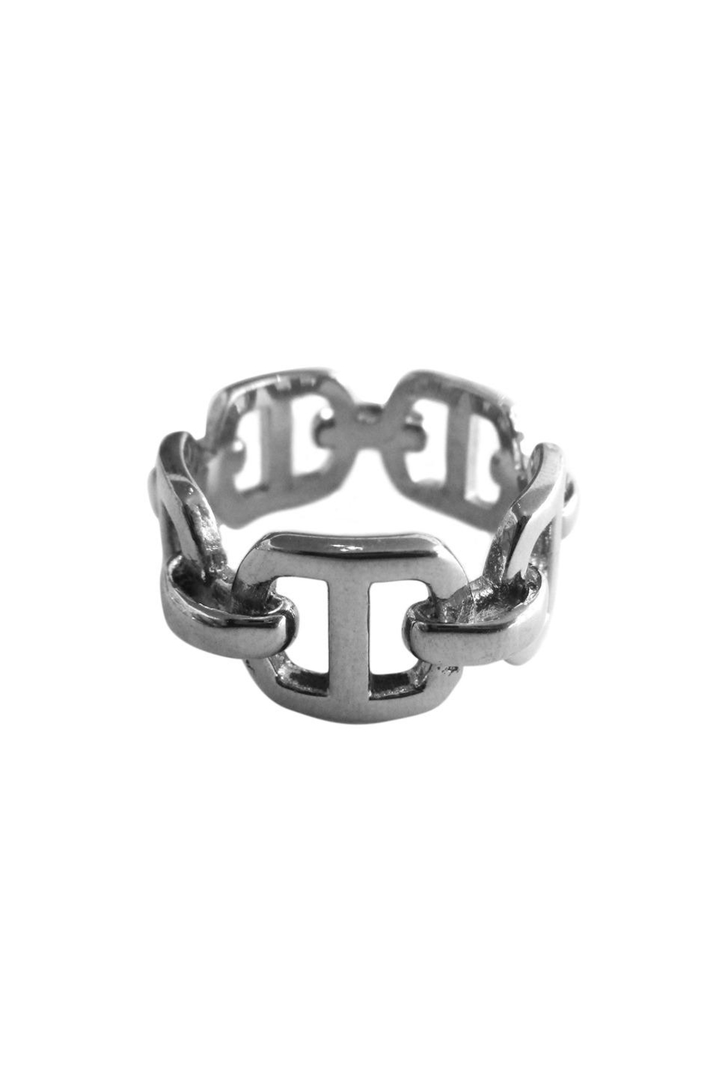 Malia Jewelry Flat Links Ring - Main Image