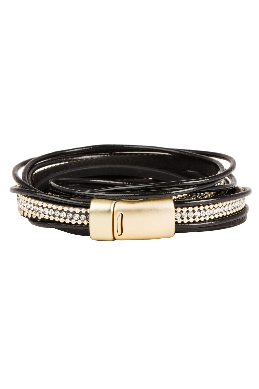 Saachi Flaunt Double Wrap Leather Bracelet - Side Cropped Image