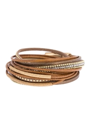 Saachi Flaunt Double Wrap Leather Bracelet - Side cropped
