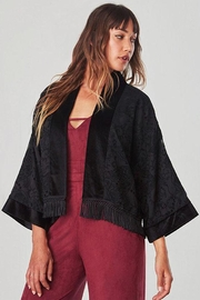 Jack by BB Dakota Flavia Velvet Kimono - Product Mini Image