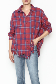 Flawless Distressed Plaid Shirt - Product Mini Image