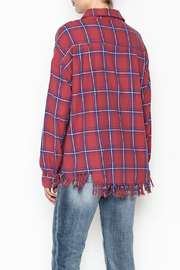 Flawless Distressed Plaid Shirt - Back cropped