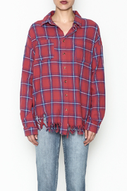 Flawless Distressed Plaid Shirt - Front full body