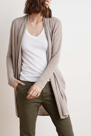 Velvet Flax Cardigan - Front cropped
