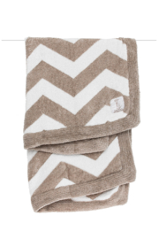 LITTLE GIRAFFE Flax Dolce Chevron Blanket - Product Mini Image