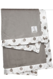 LITTLE GIRAFFE Flax Dot Blanket - Front cropped
