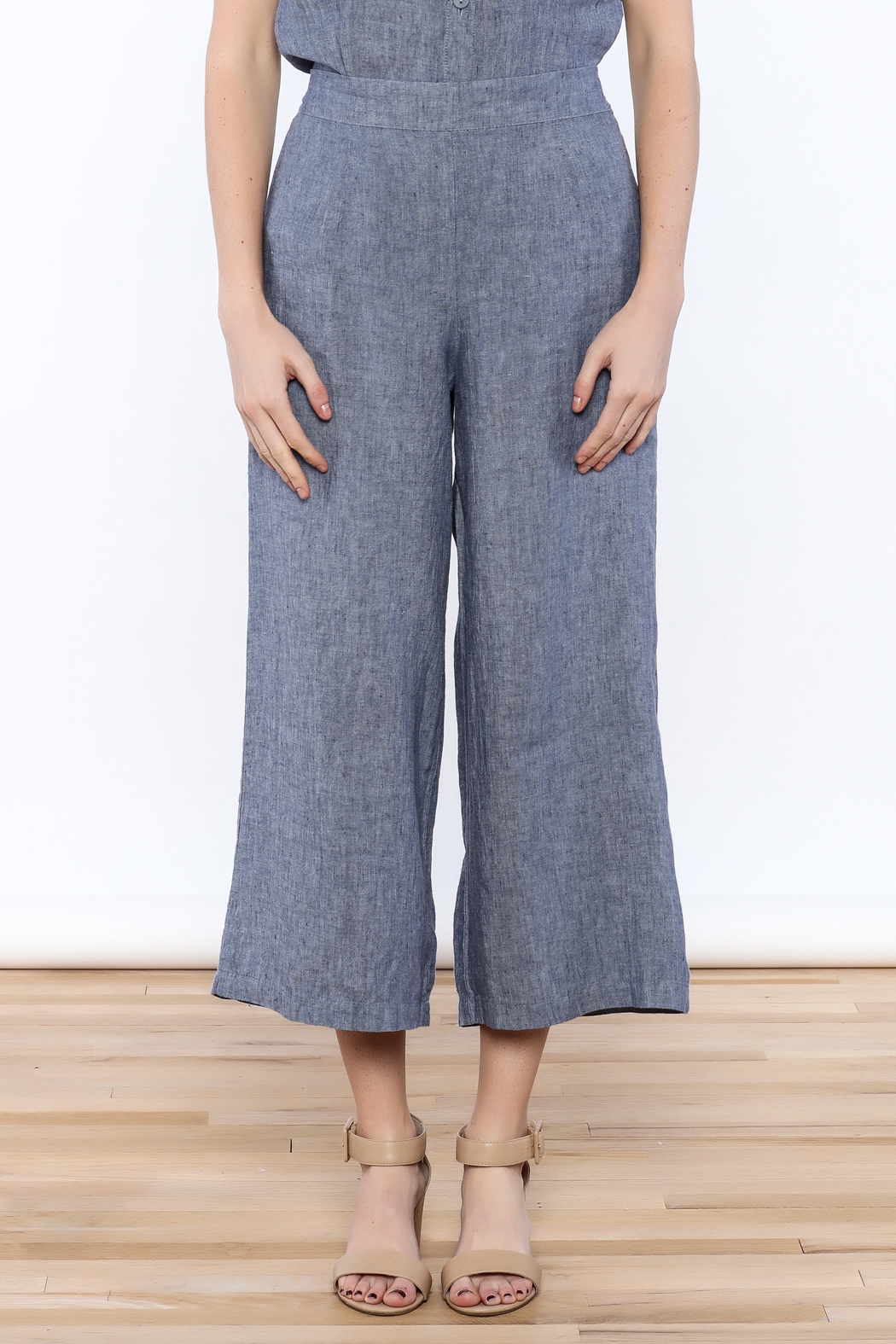 Flax Wide Leg Cropped Pants from Maryland by Something Else ...