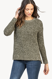 Lilla P Flecked Cotton Blend Pullover Sweater - Front cropped