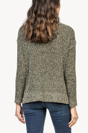 Lilla P Flecked Cotton Blend Pullover Sweater - Front full body