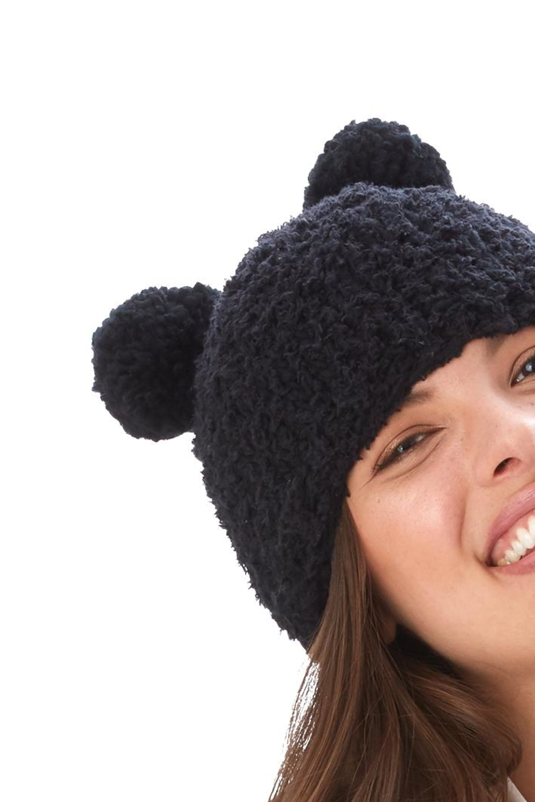 2 Chic Fleece Bear Hat - Main Image