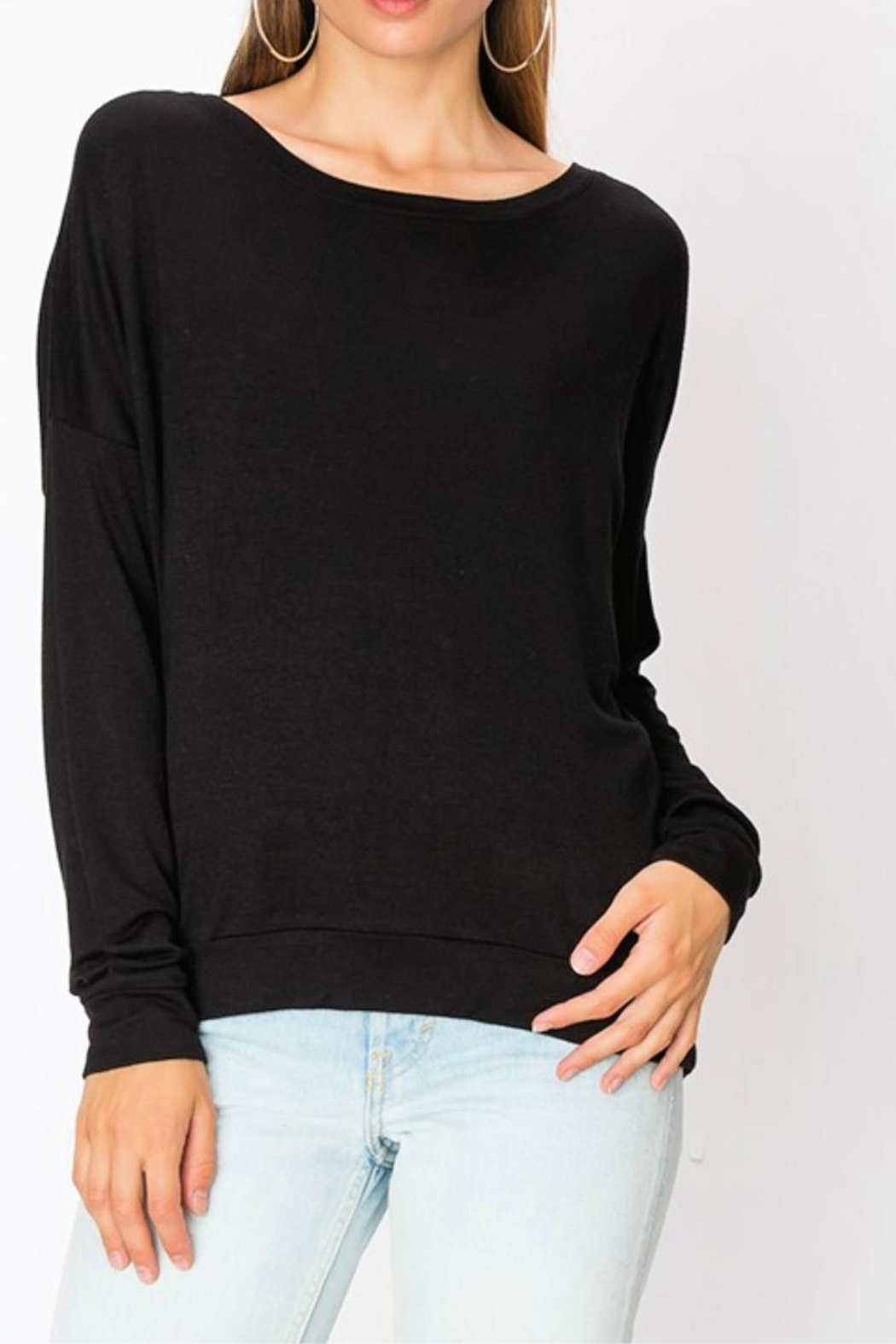 Miss Darlin Fleece Boatneck Sweatshirt - Main Image