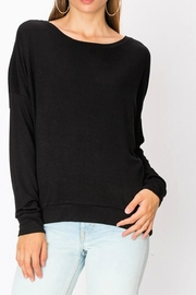 Miss Darlin Fleece Boatneck Sweatshirt - Front cropped