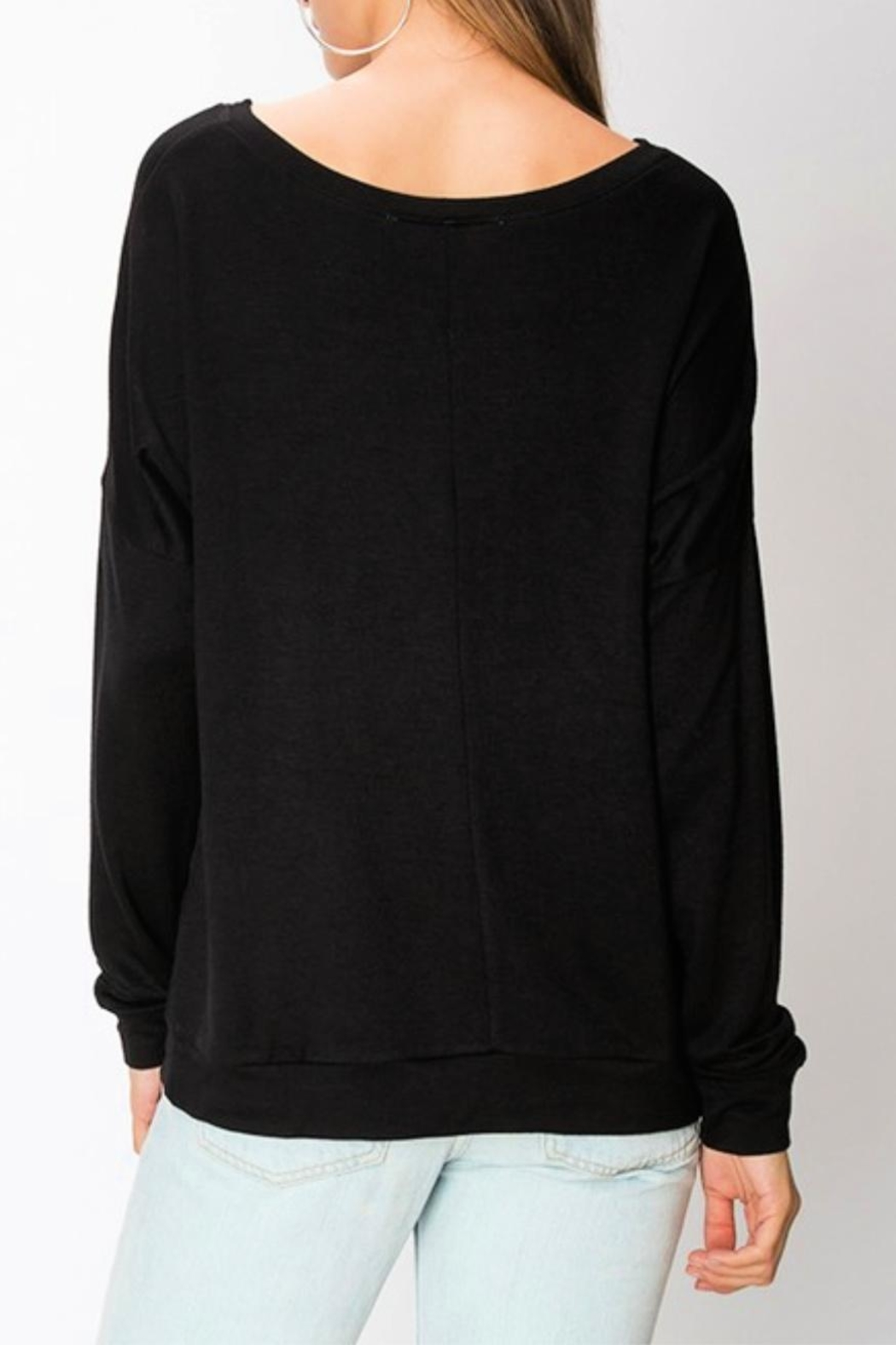 Miss Darlin Fleece Boatneck Sweatshirt - Side Cropped Image