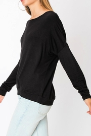 Miss Darlin Fleece Boatneck Sweatshirt - Front full body