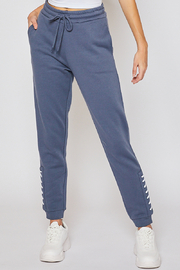 Lyn -Maree's Fleece Jogger with Lace-Up Detail - Product Mini Image