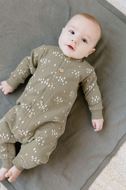 Quincy Mae Fleece Jumpsuit - Olive - Product Mini Image