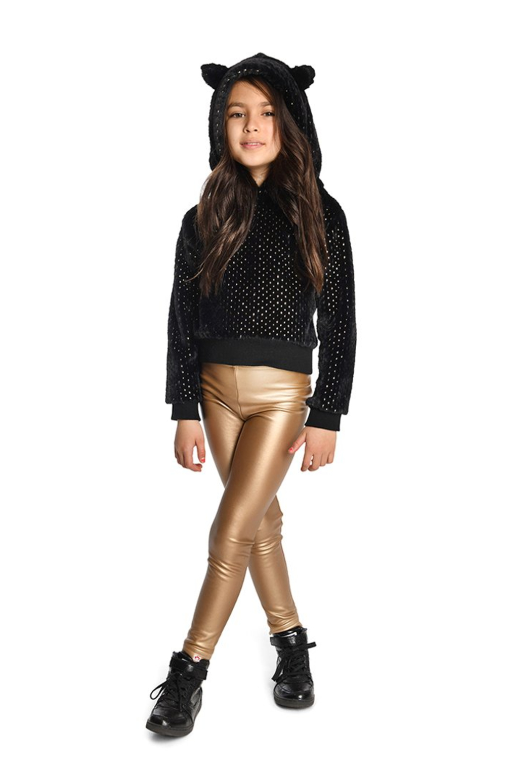 Appaman Fleece Lined Gold Legging - Side Cropped Image