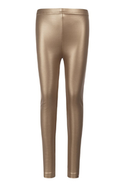 Appaman Fleece Lined Gold Legging - Front full body
