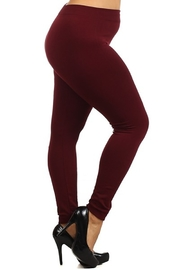 Red Ribbon FLEECE LINED LEGGING - Front cropped