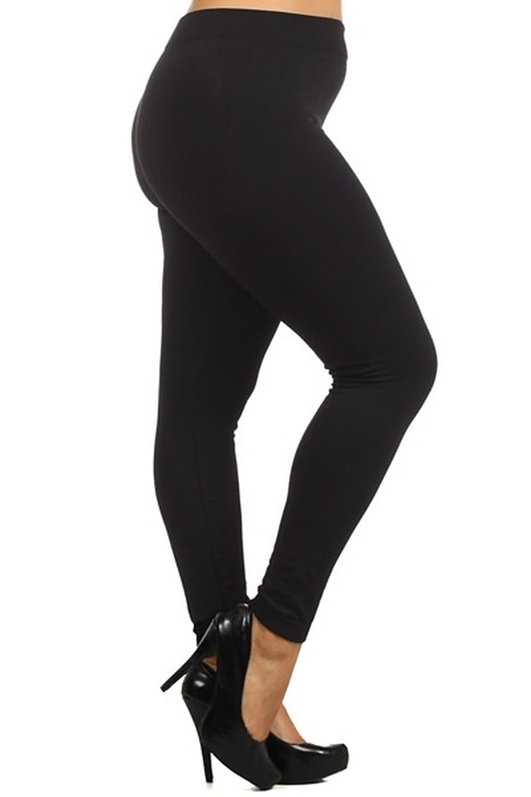 Red Ribbon FLEECE LINED LEGGING - Front Cropped Image
