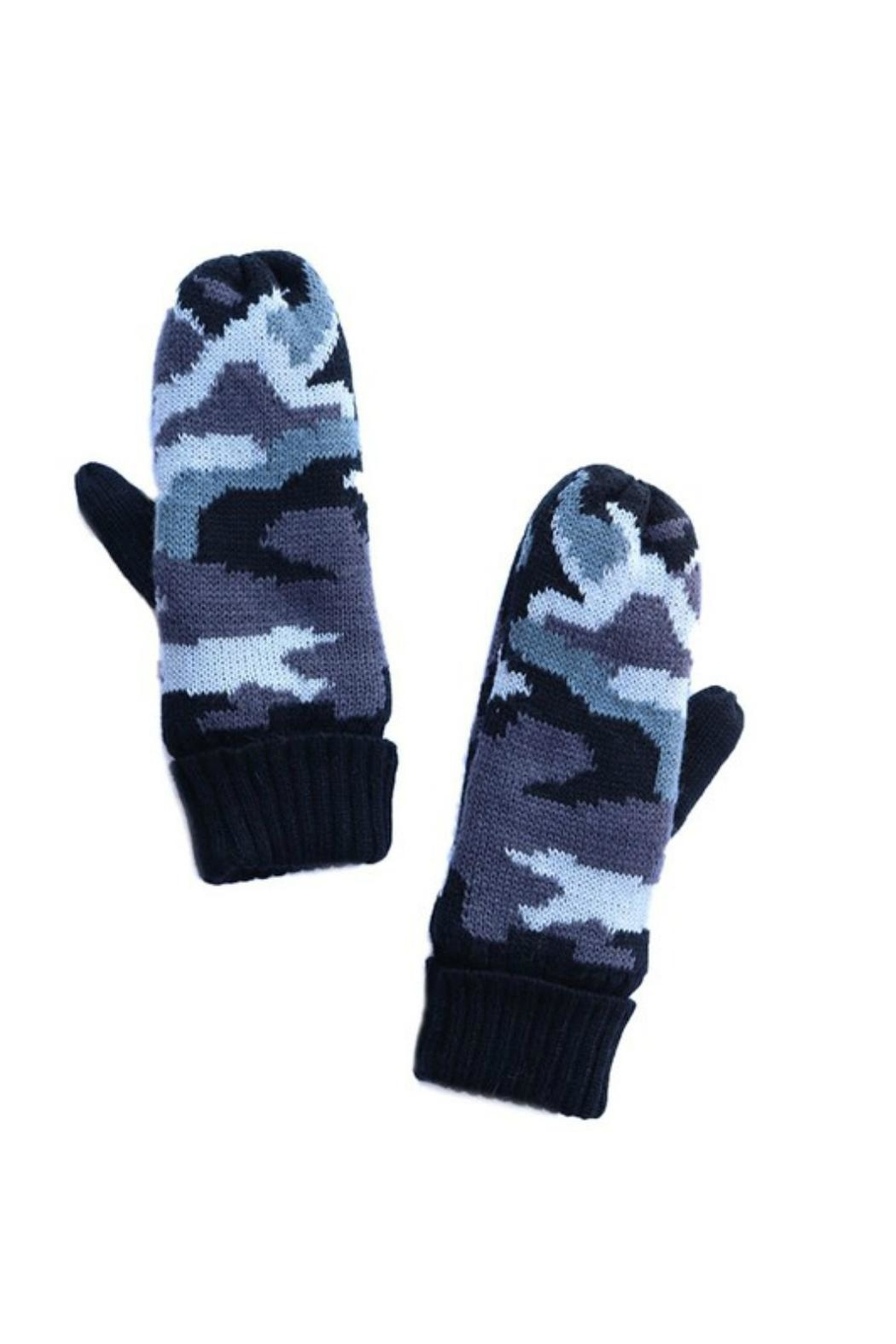 Pretty Little Things Fleece Lined Mittens - Front Cropped Image