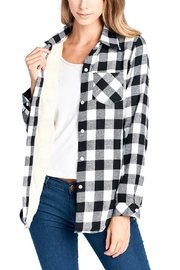 Lyn-Maree's  Fleece Lined Plaid Flannel - Front cropped