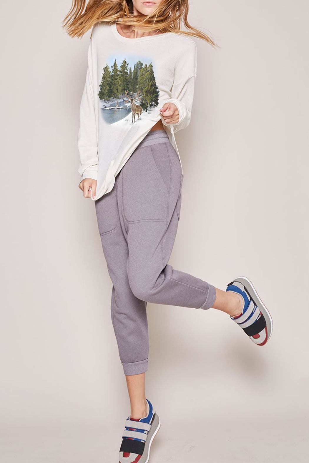 All Things Fabulous Fleece Lounge Sweats - Front Cropped Image