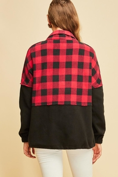 Entro Fleece Plaid Pullover - Alternate List Image