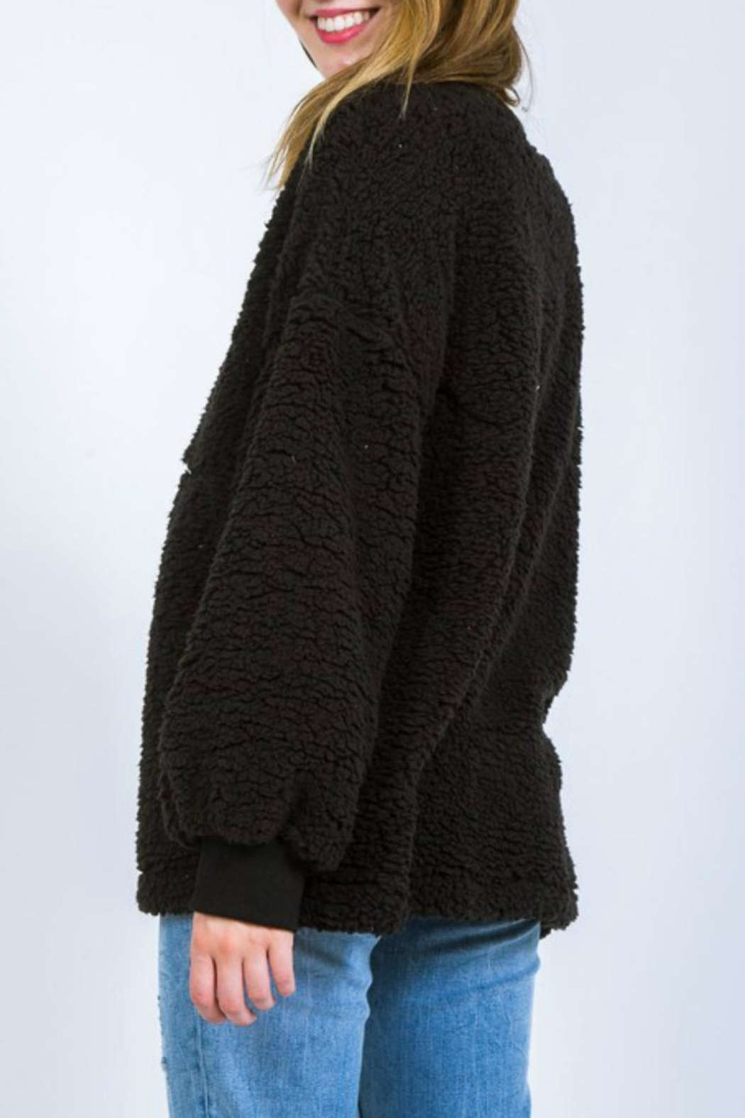 Very J Fleece Poodle Pullover - Side Cropped Image