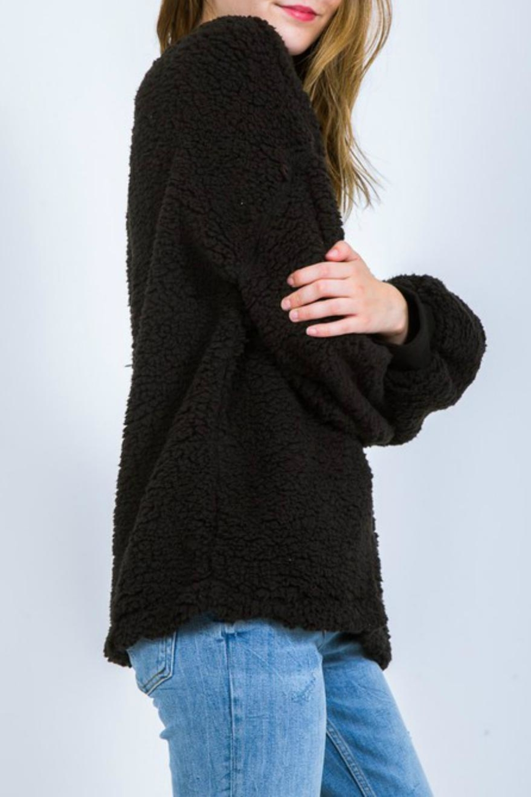 Very J Fleece Poodle Pullover - Front Full Image