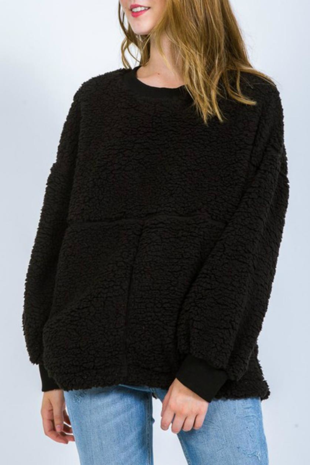 Very J Fleece Poodle Pullover - Main Image