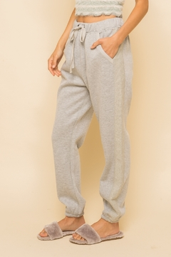 Hem & Thread Fleece Side Tape Sweatpants - Product List Image