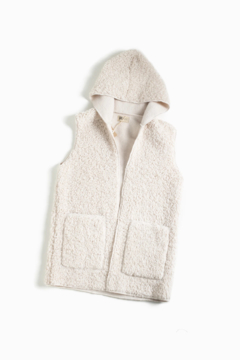 Shoptiques Product: Fleece Teddy Hoodie vest