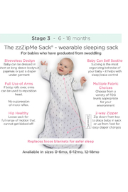 Swaddle Designs Fleece zzZipMe Sack - Front full body
