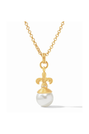 Julie Vos Fleur-de-Lis Pearl Pendant Shell Pearl with Fresh Water Pearl accents - Product Mini Image