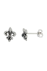 Silver City Fleur de Lis Post Earrings - Product Mini Image