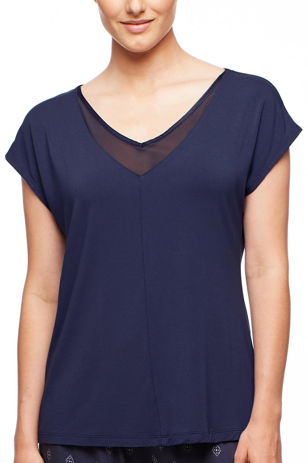 Fleur't Silk Trimmed Tee - Front Cropped Image