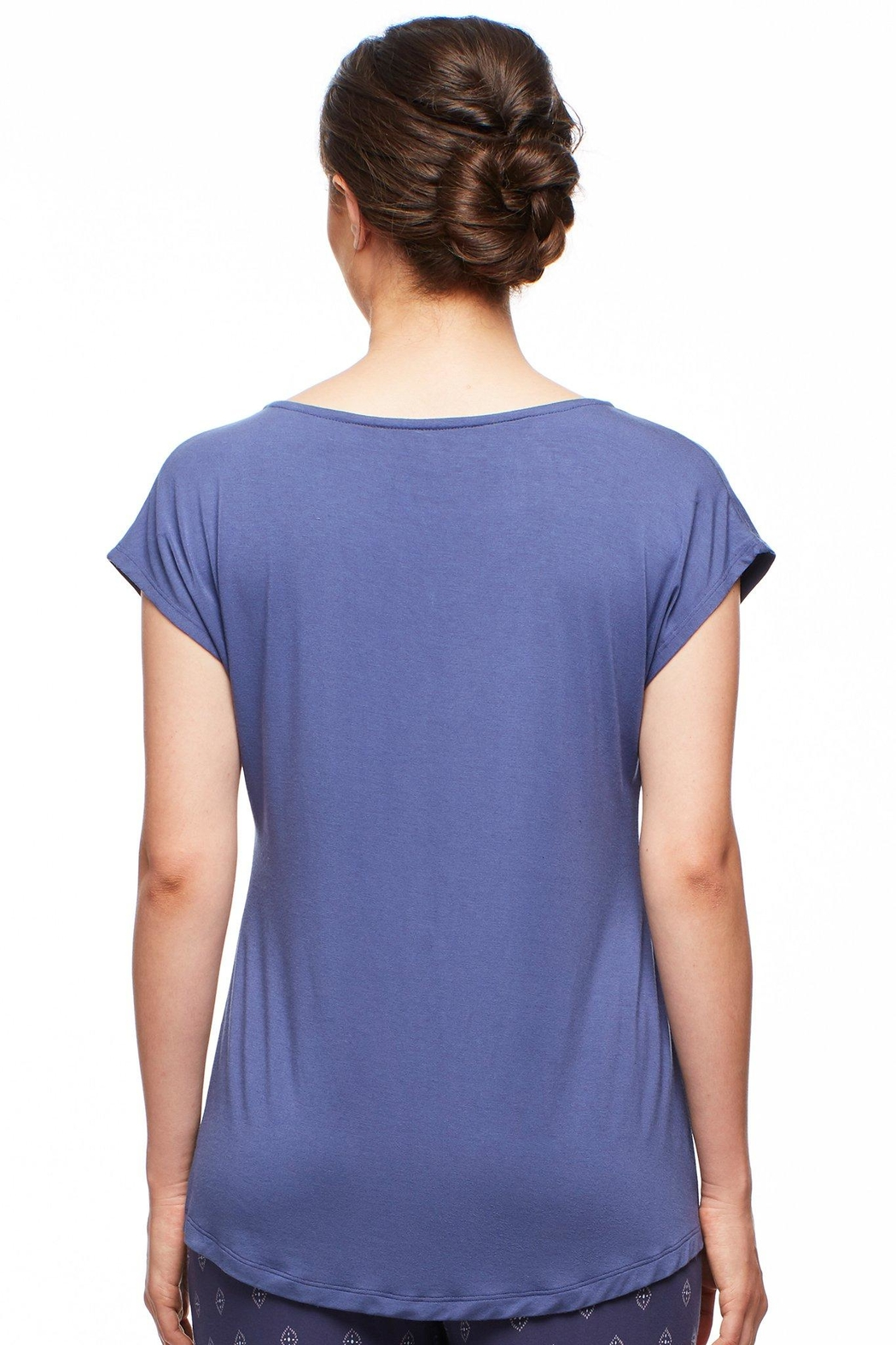 Fleur't Silk Trimmed Tee - Front Full Image