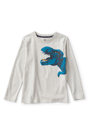 Tea Collection  Flexin' Rex Dino Graphic Te - Front cropped