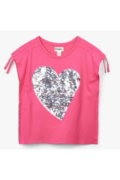 Hatley Flip Sequin Heart Cinched Shoulder Tee - Alternate List Image