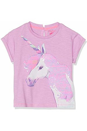 Hatley Flip Sequin Unicorn Graphic Tee - Front full body